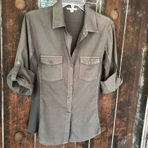 James Perse Contrast Panel Shirt Revolve Clothing